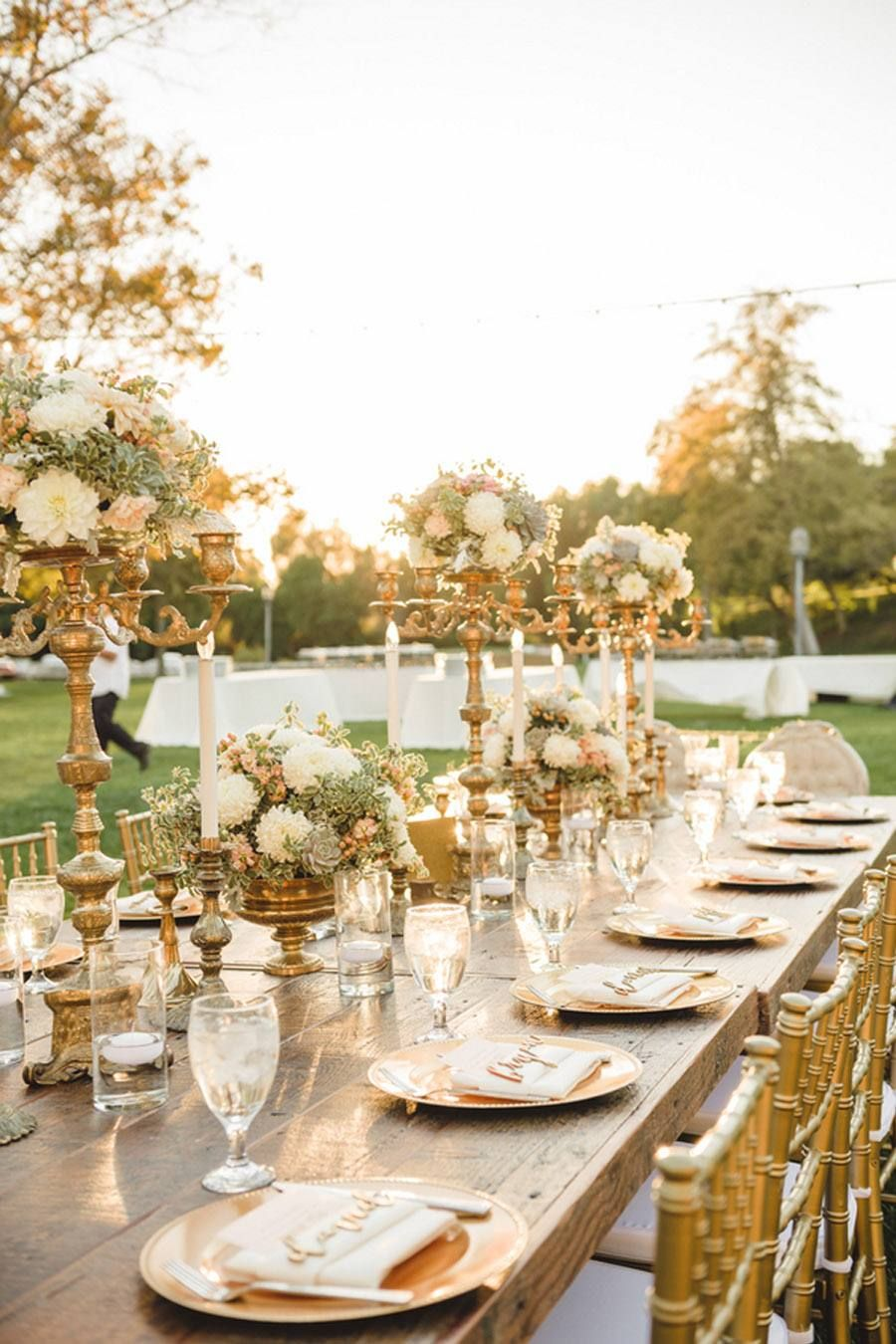 Decoraci n de boda en bronce decoraci n de mesas de for Alquiler decoracion bodas