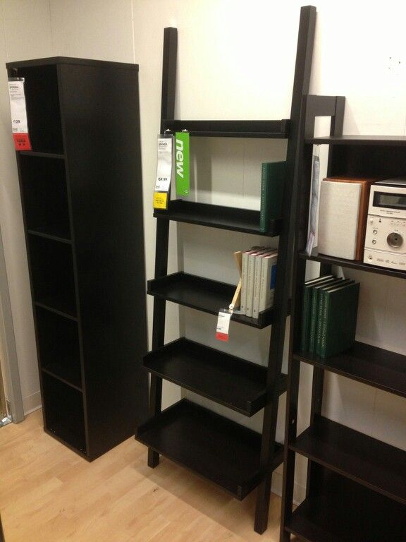 Ikea Black Ladder Shelf Shelves Ladder Bookcase Home Decor