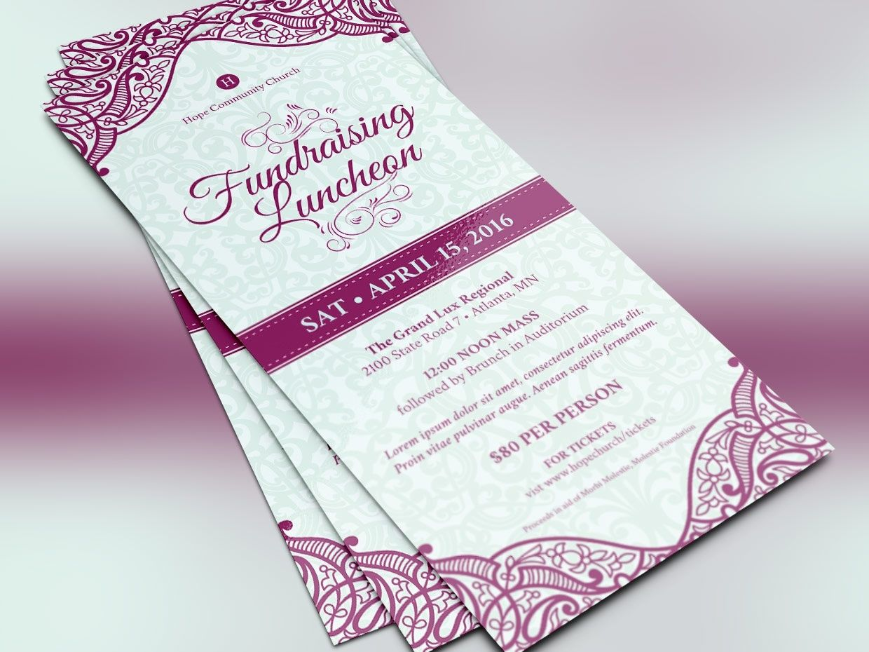 Luncheon Flyer Photoshop Template | Photoshop, Print templates and ...