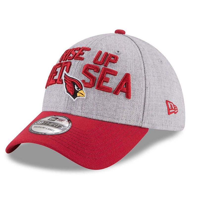 new arrival 0626b 70e3d Arizona Cardinals New Era 2018 NFL Draft Official On-Stage 39THIRTY Flex  Hat – Heather Gray Cardinal