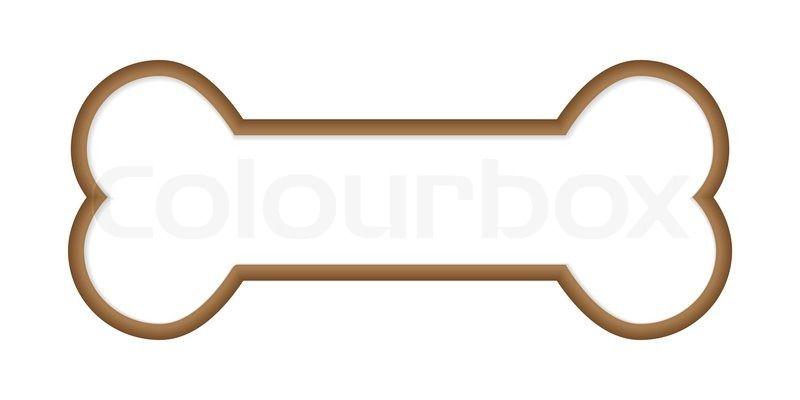 Dog Bone Outline Clip Art Stock Vector Of Dog Bone Malarbok