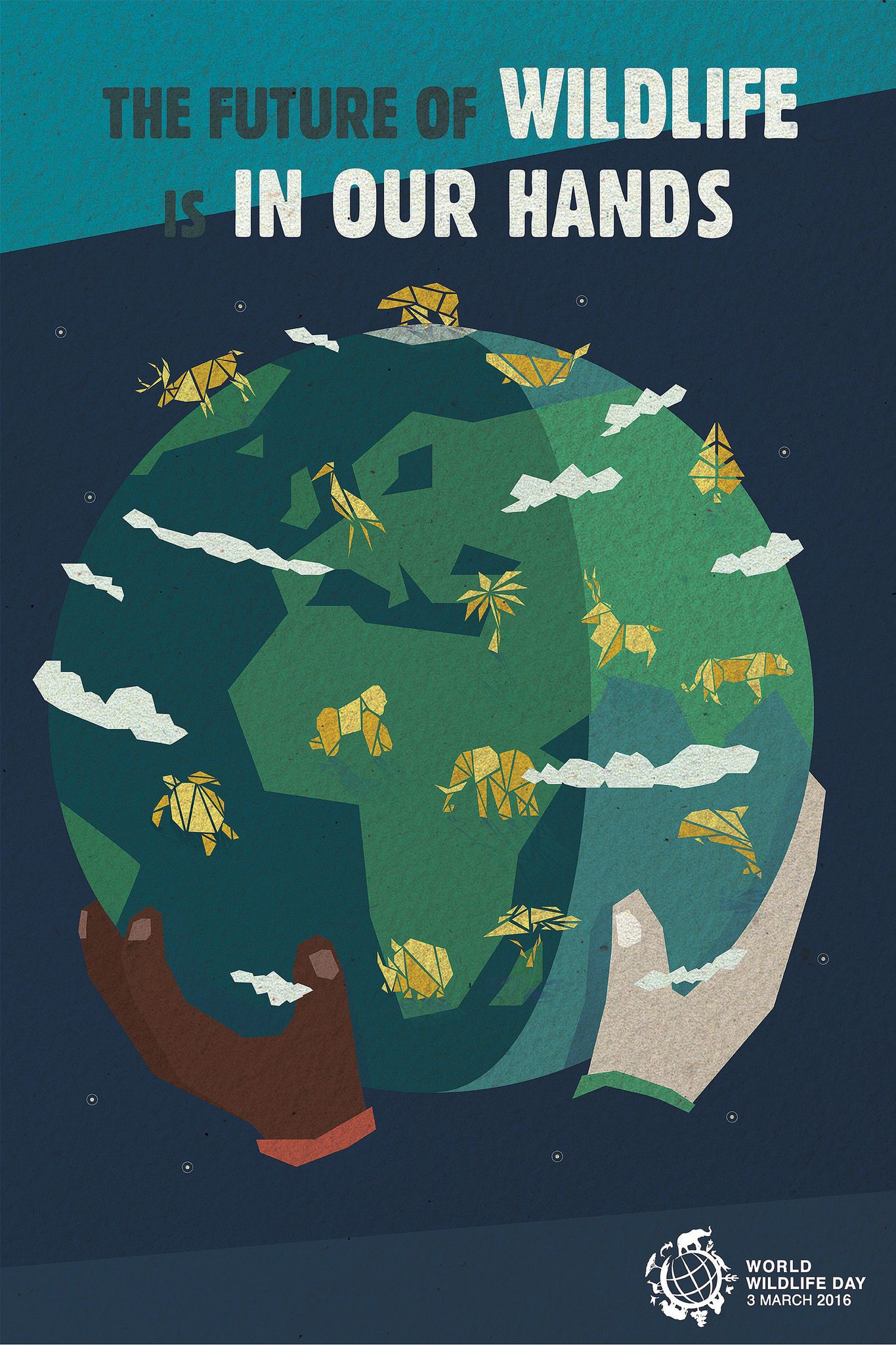 Outreach Material Official Website Of Un World Wildlife Day Wildlife Day Save Environment Posters Animal Conservation