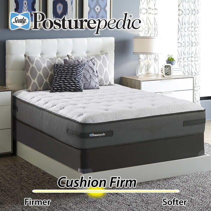 Sealy Posturepedic Plus Series Ashton Cushion Firm Queen Mattress And Foundation