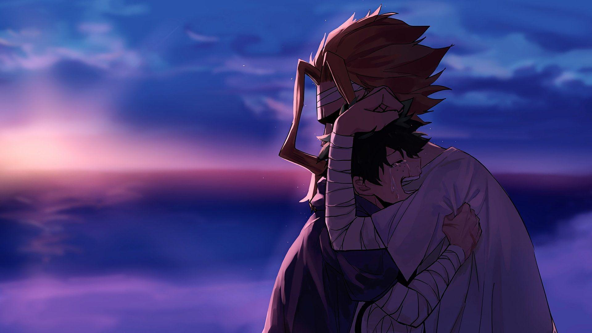 Hd Wallpaper Anime My Hero Academia All Might Boy Crying Green Hero My Hero Academia Boku No Hero Academia