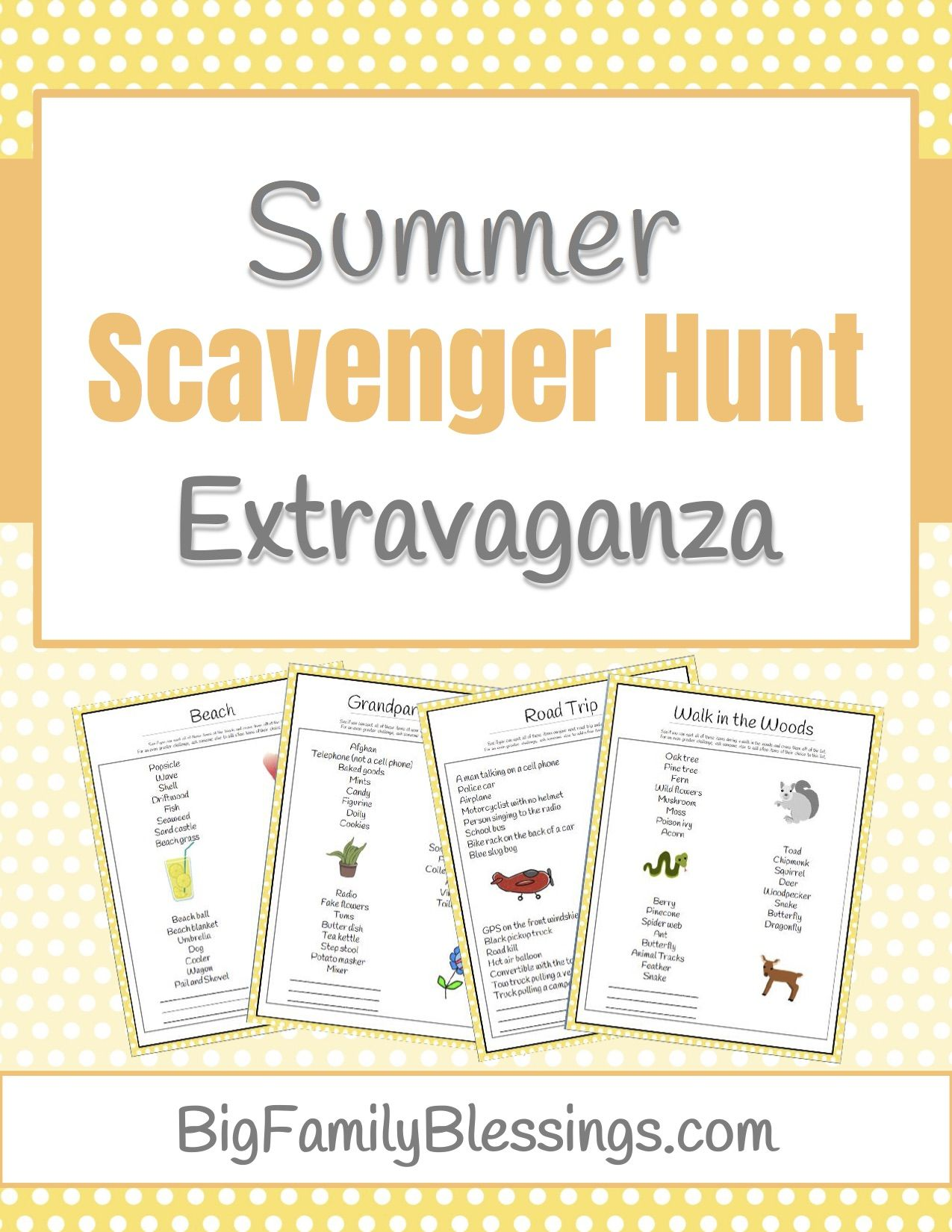 photo regarding Have a Ball This Summer Free Printable known as Take busy and incorporate exciting Cost-free Summer season Scavenger Hunt Printable