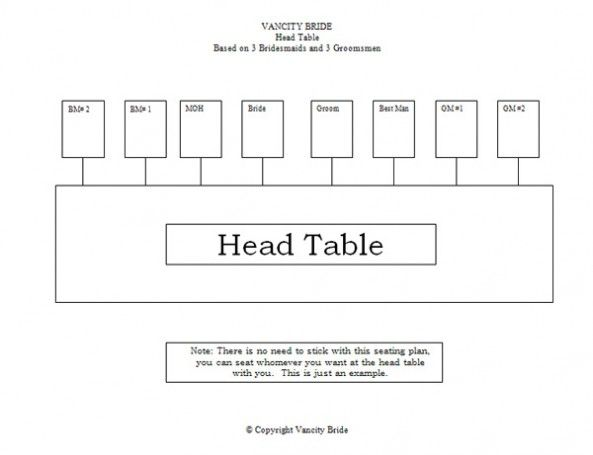 Free Individual Table Seating Charts Free Wedding Downloads – Free Seating Chart Template for Wedding Reception