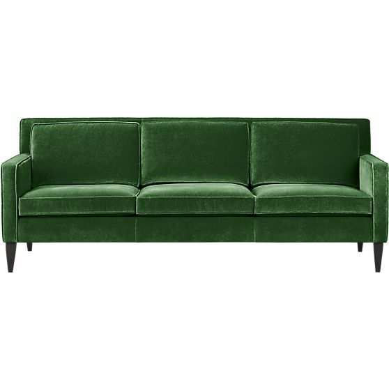 i am in love with this sofa it 39 s so beautiful i mean green velvet those lines beautiful. Black Bedroom Furniture Sets. Home Design Ideas