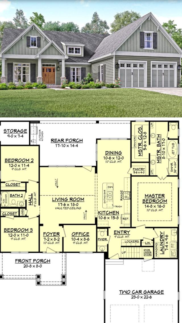 Plan 62839dj Delightful Modern Farmhouse Plan With Home Office In 2020 Modern Farmhouse Plans Farmhouse Plans House Plans