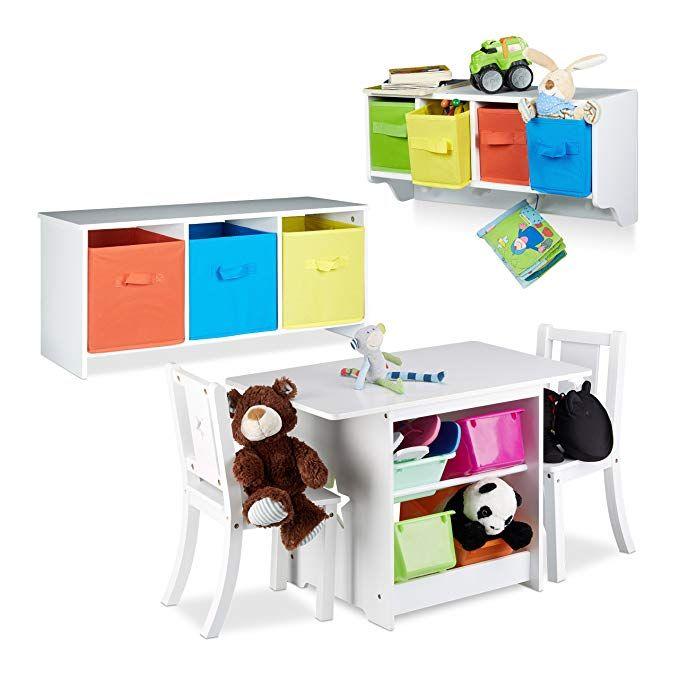 2 tlg. Kindermöbel Set ALBUS, Wandregal für Kinder