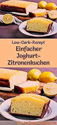 Photo of Einfacher Low Carb Joghurt-Zitronenkuchen – Rezept ohne Zucker