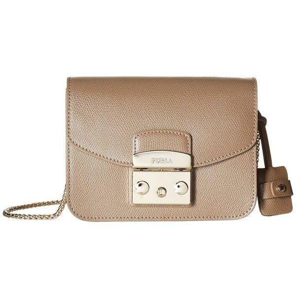 Furla Metropolis Mini Crossbody (Daino 1) Cross Body Handbags ($298) ❤ liked