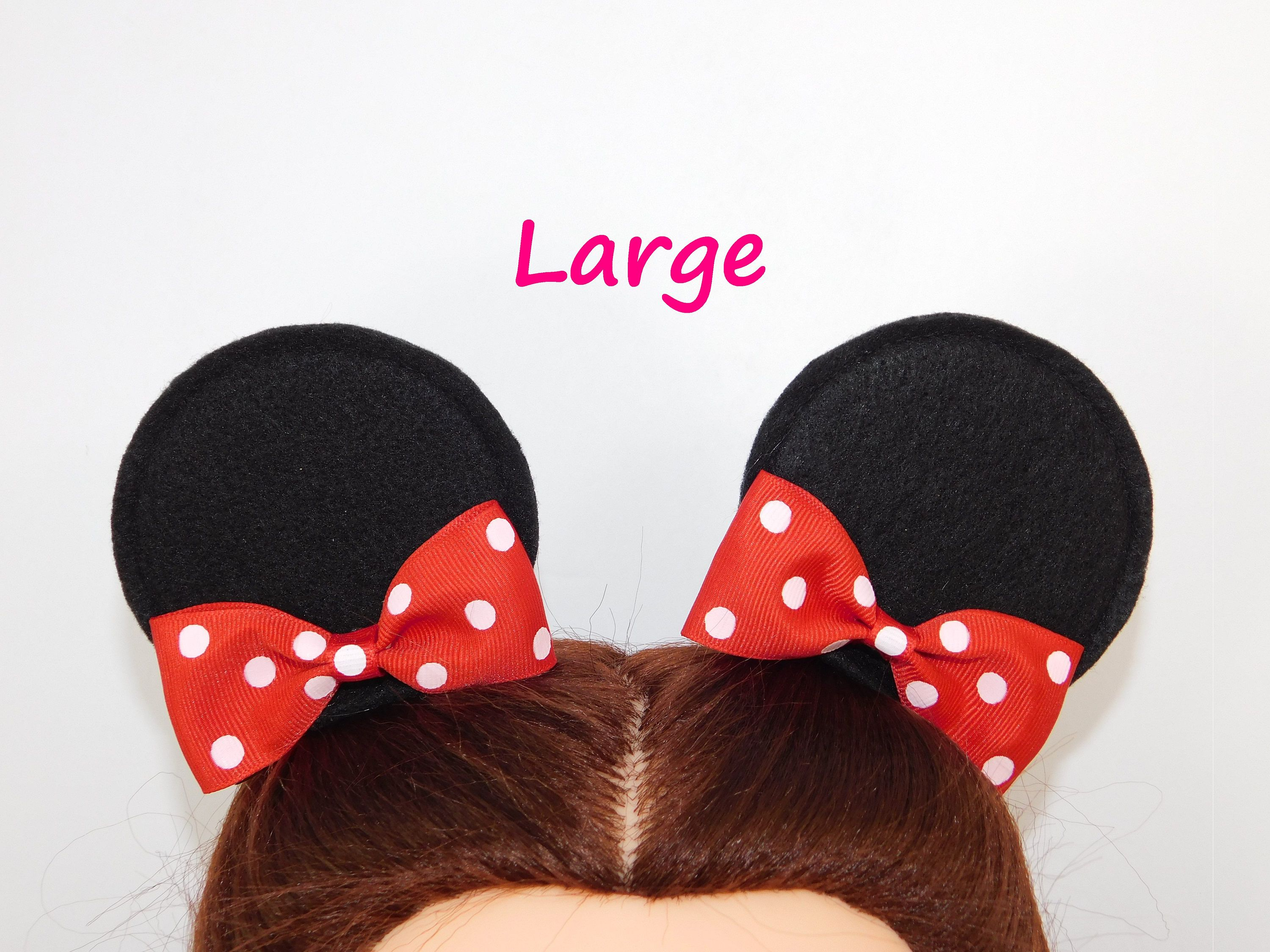 pin on mickey mouse ears hair clip