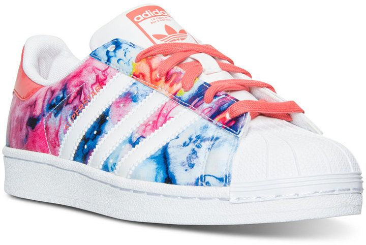 Adidas Adidas Big Girls' SUPERSTAR casual zapatillas de la línea de meta