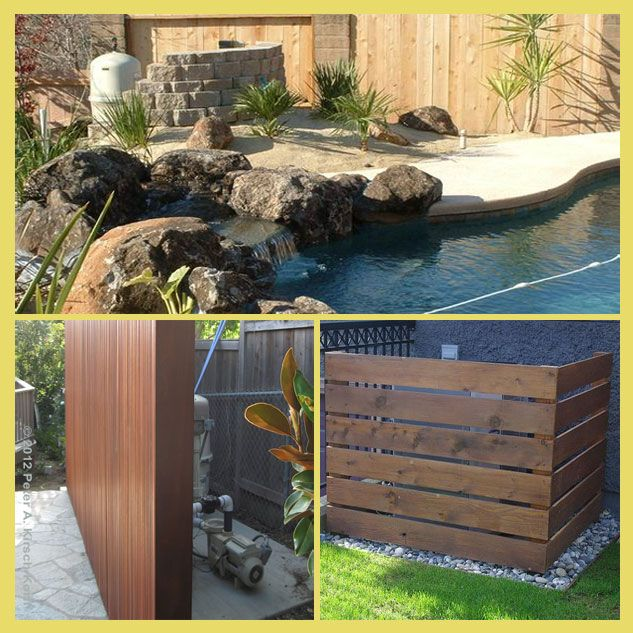 Pool Equipment Enclosure Ideas Pool Equipment Pool Equipment Enclosure Inground Pool Landscaping