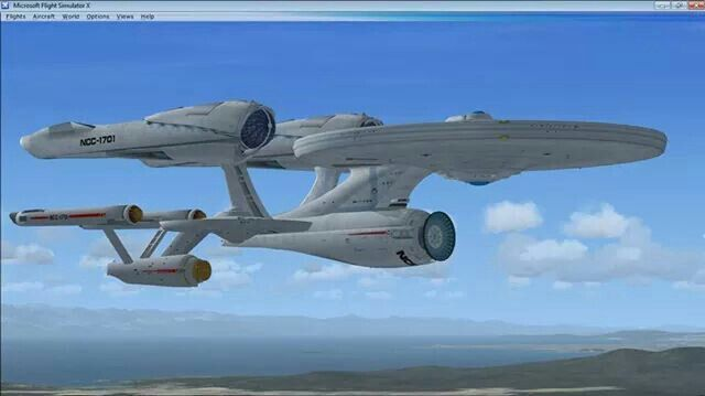 Photo Showing The Size Difference Between U S S Enterprise Ncc