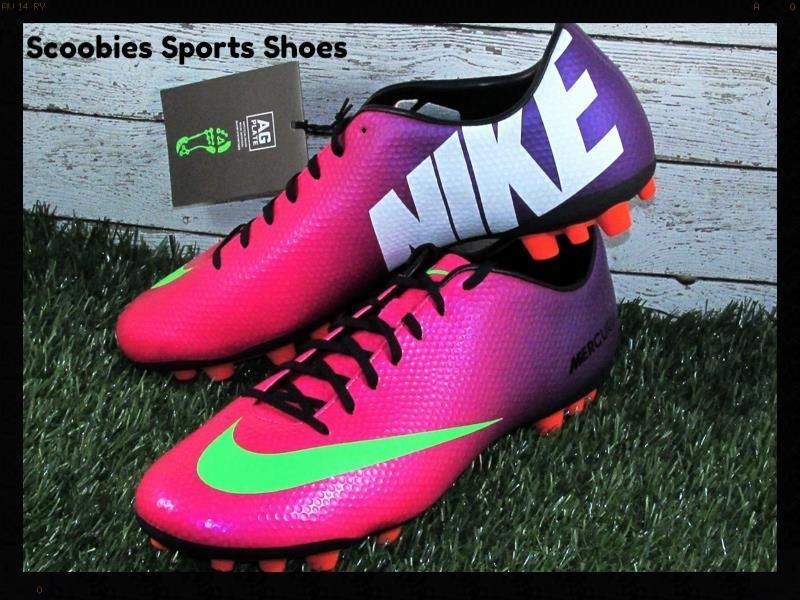 Nike Mercurial Veloce AG Soccer Cleats Size 11 5 Fireberry