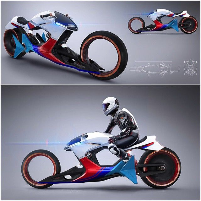 We Present To You Sebastian Martinezu0027 Stunning I Motorrad BetaIR. The  Motorcycle Has A Sleek Aerodynamic Body, Complete With Tron Inspired Spo