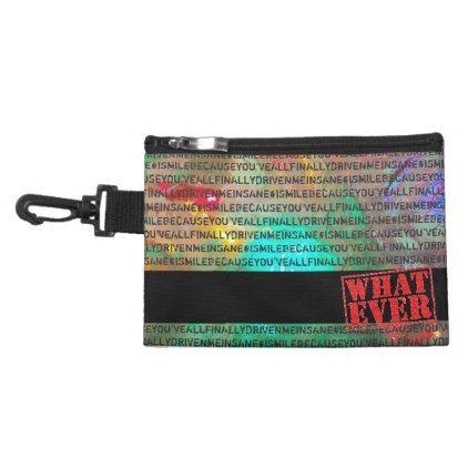 BAG CLIP ON #driven me insane whatever BLACK - accessories accessory gift idea stylish unique custom