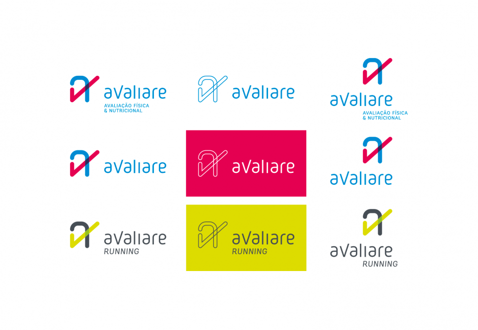 """Reformulamos a identidade visual da Avaliare, criando um monograma único que reforça o conceito classe """"A"""" da clínica. Confira os detalhes."""