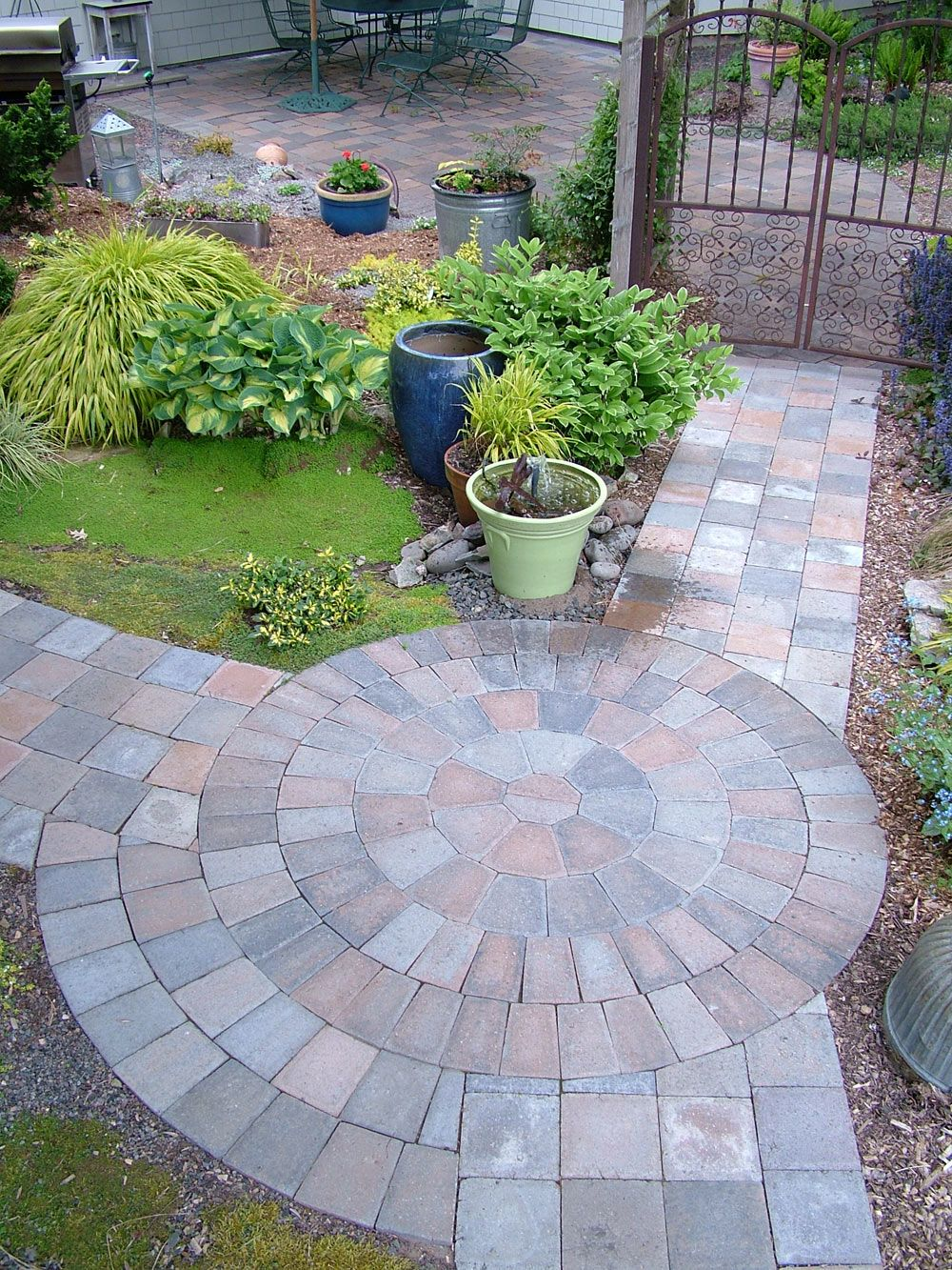 Small Patio With Walkways