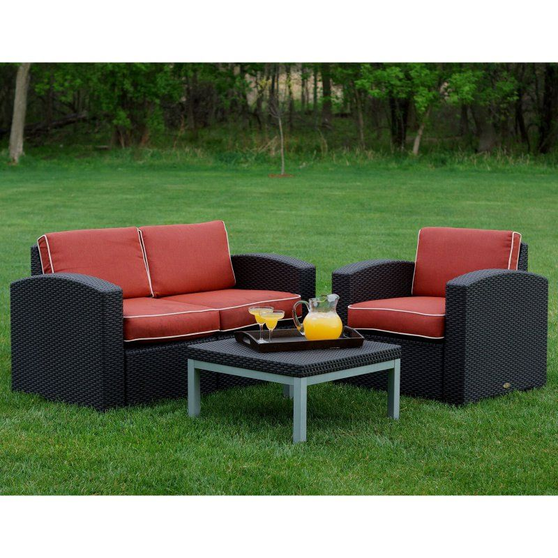 Stratta Accent Chair: Outdoor Strata Furniture Cielo 3 Piece Chair And Loveseat