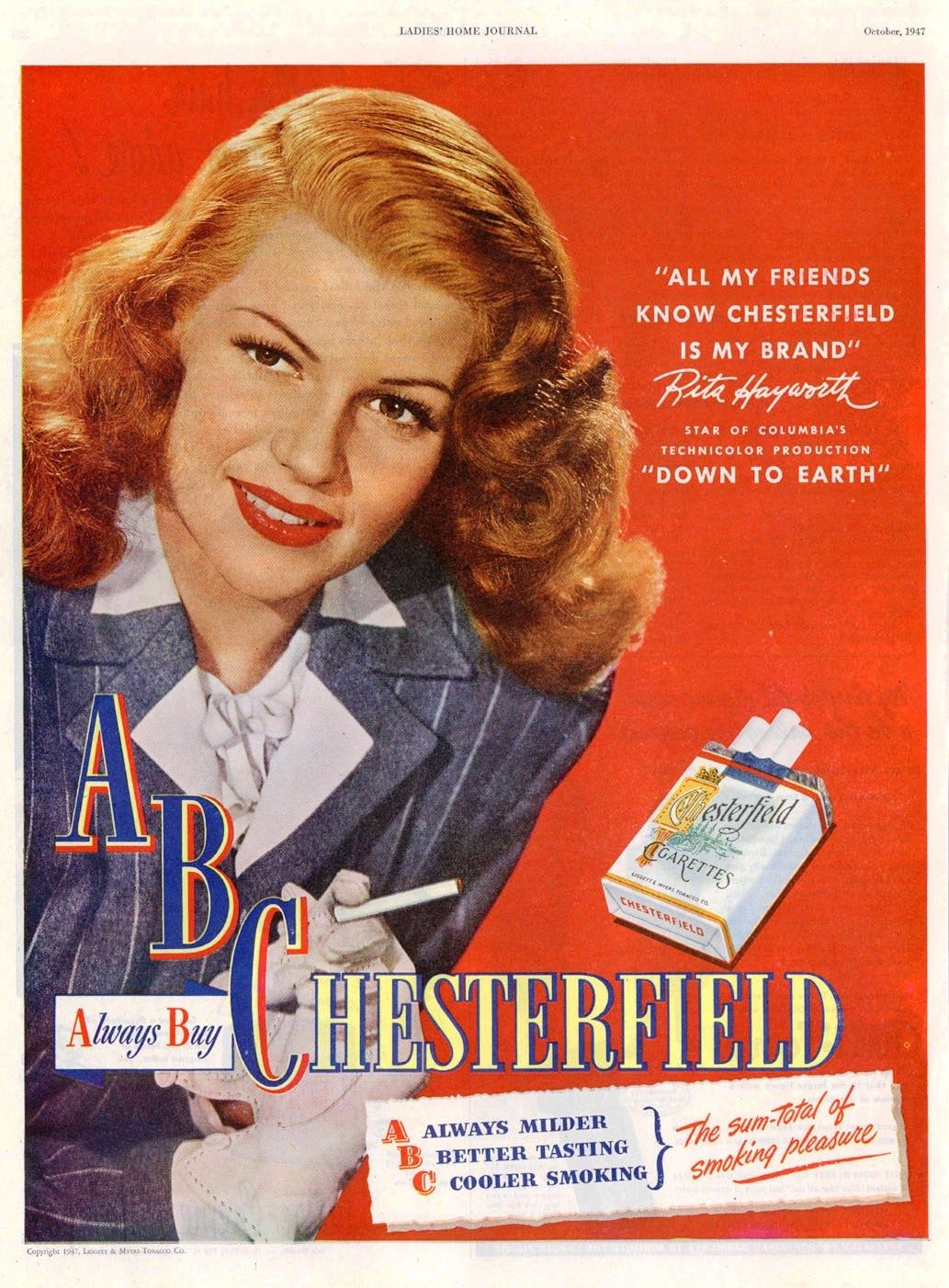 Advertising-print Useful 1942 Chesterfield Cigarettes Lois January Magazine Advertisement World War Ii High Resilience