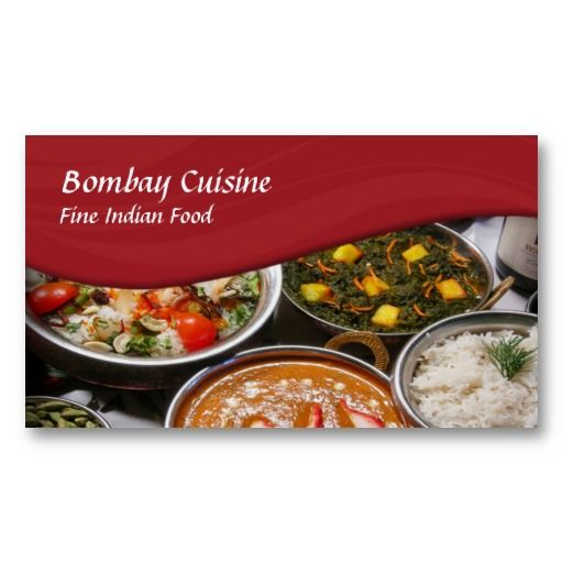 Indian Cuisine Business Card Zazzle