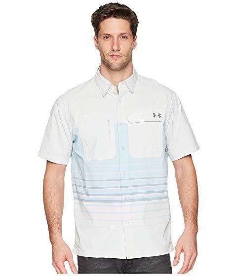UNDER ARMOUR Men/'s UA Fish Hunter Plaid Short Sleeve Fishing Shirt NWT Size XL
