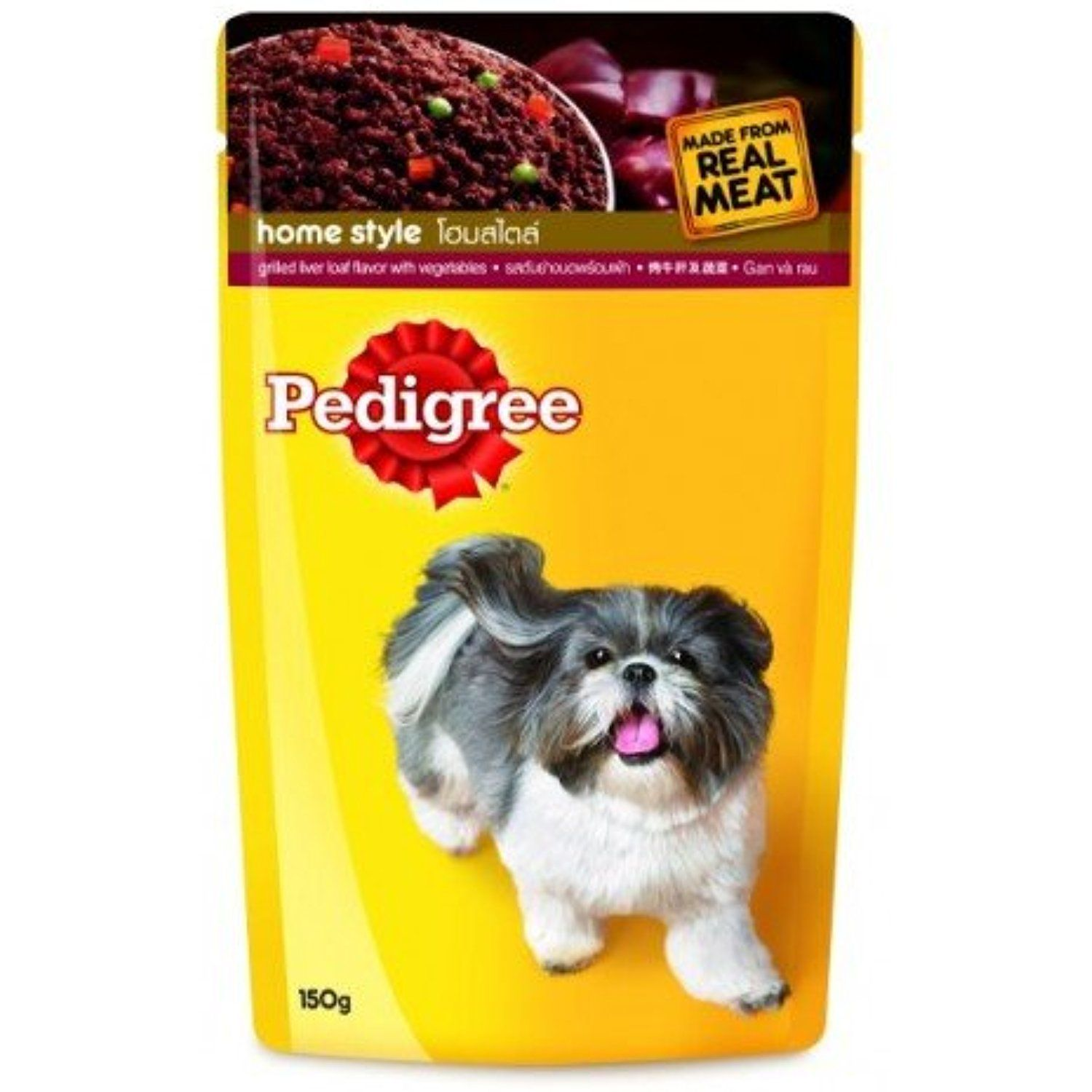 Pedigree Pouch Dog Food Liver And Vegetable Flavor Made Form Real