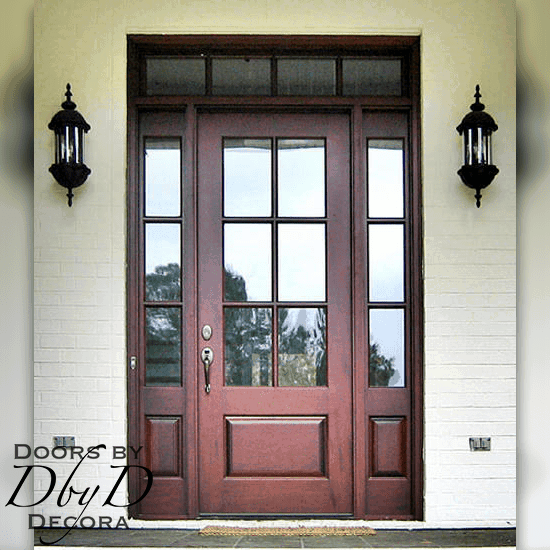 Custom Craftsman Door With Transom Wood Entry Craftsman Front Doors Craftsman Style Front Doors Front Entry Doors