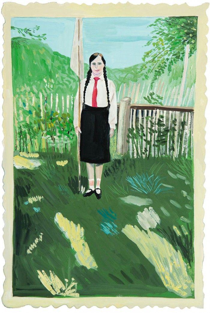 Maira Kalman Girls Standing on Lawns inspiration