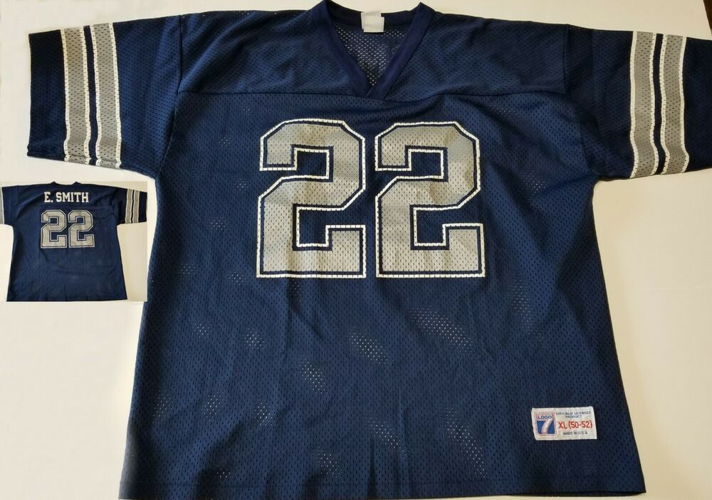 on sale 33d17 e29d8 Vintage Emmitt Smith Dallas Cowboys Football Jersey Blue ...
