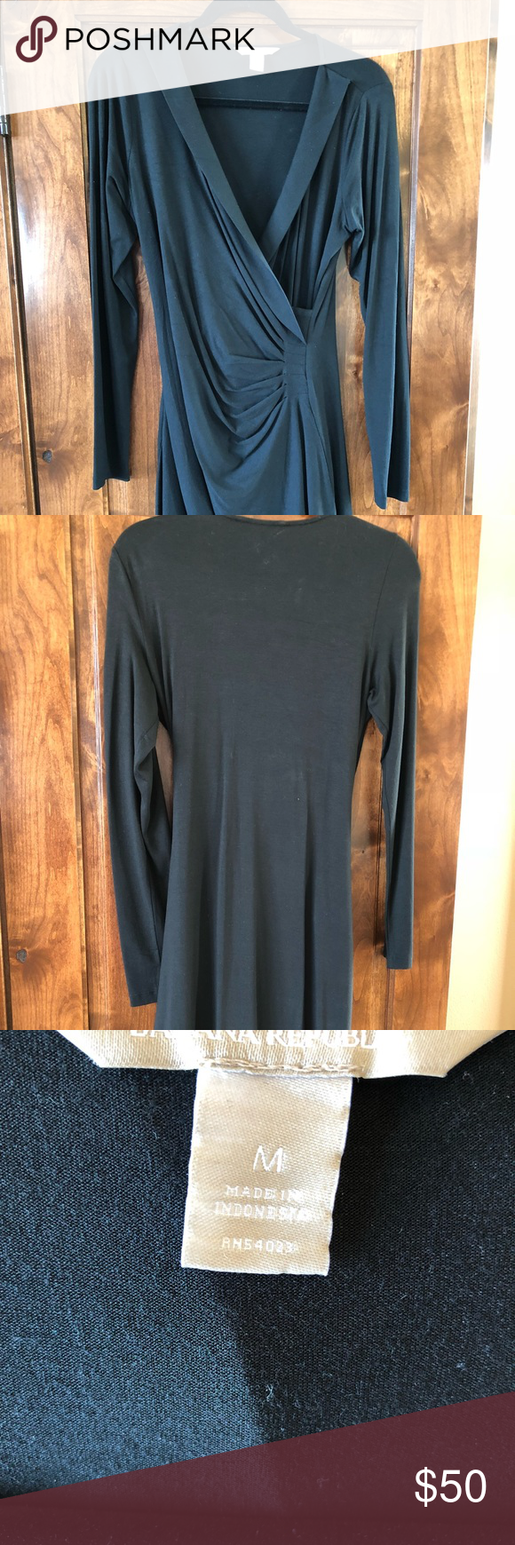 Banana republic cinched waist dress size m my posh picks