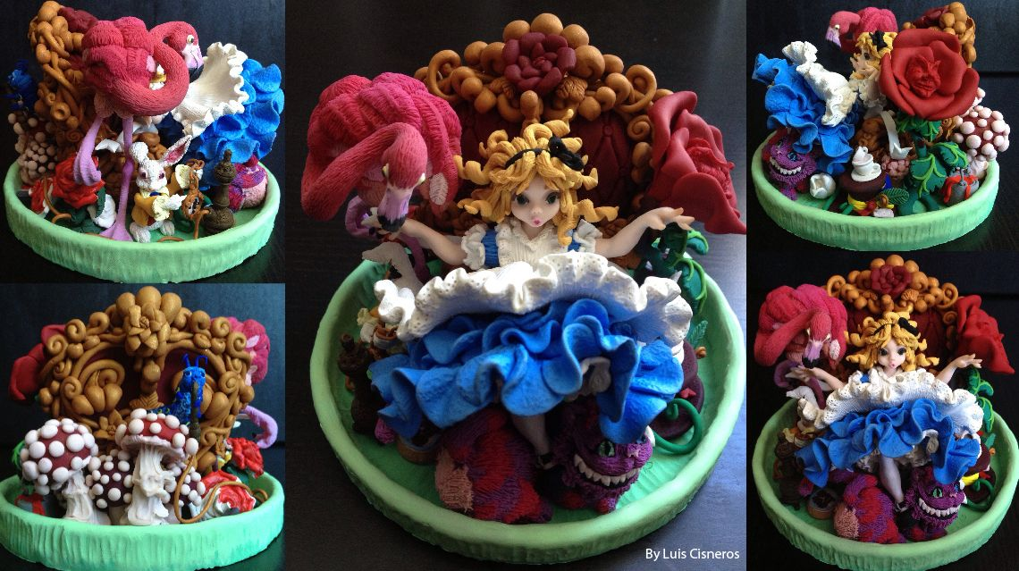 Polymer Clay Alice in Wonderland
