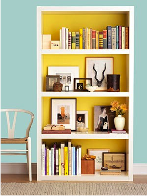 IKEA Lack Bookshelf - good example of how to spruce up simple Ikea ...