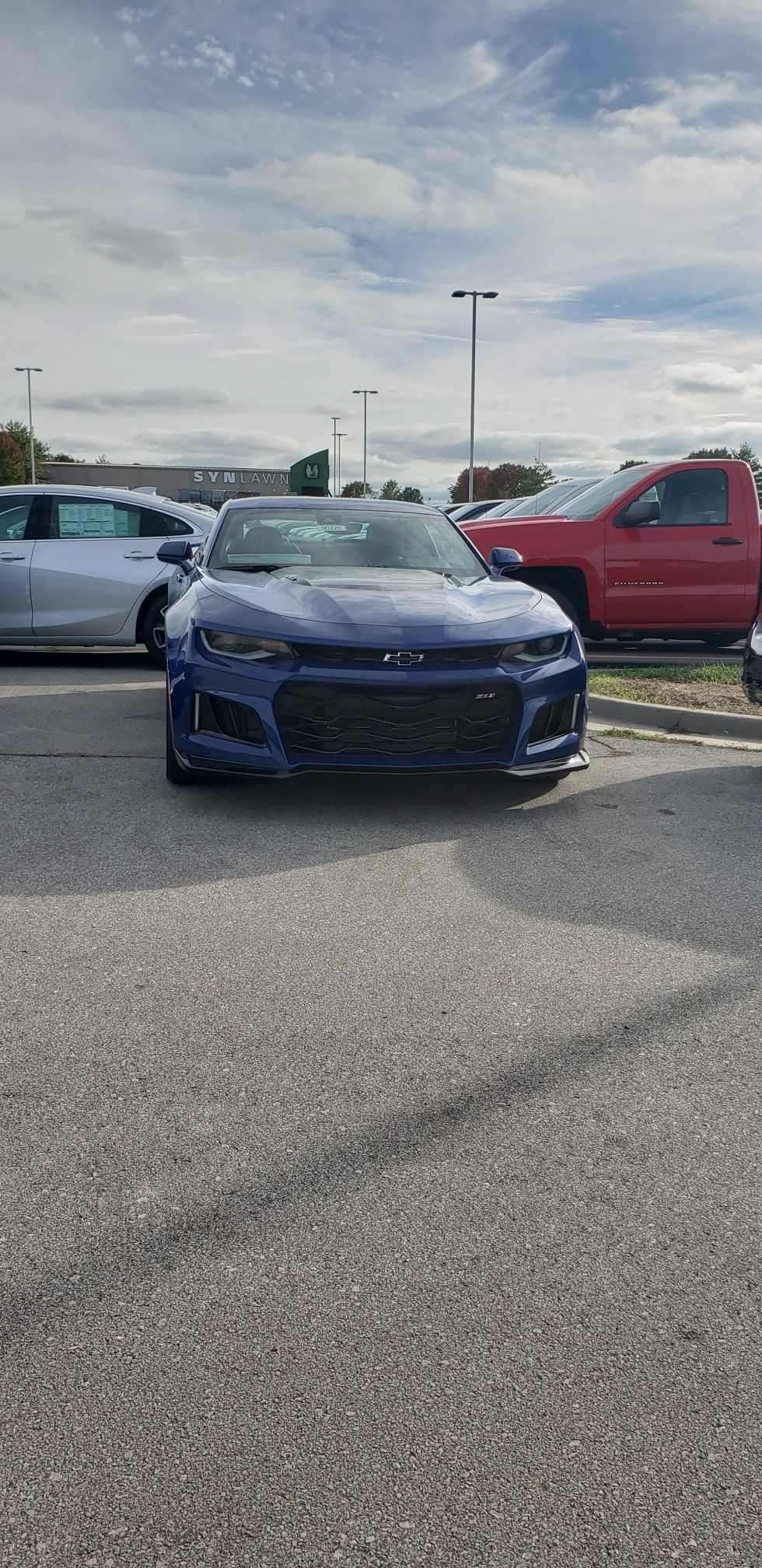 Riverside Blue Metallic 2019 Chevrolet Camaro Zl1 1se Transporter