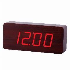 18% OFF   New Design Wood Rectangle Led Alarm Digital White Desk Clock  Wooden 6af3ce308b9