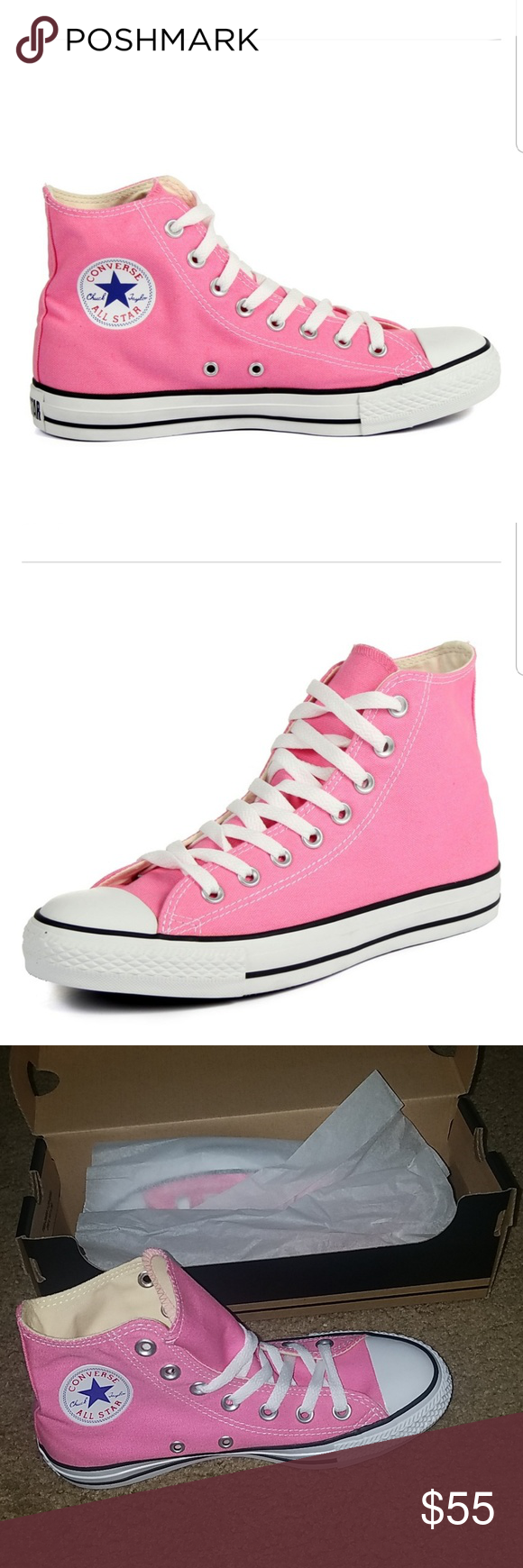a0f7ac082ad36 Converse shoes Converse M9006- Chuck Taylor All Star Hi pink 4 men 6 women.  Brand new with box. Price is firm. No trades!Don't miss the chance to wear  these ...