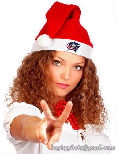 NHL Columbus Blue Jackets Christmas Knit Caps Winter Beanies Womens Knit Hats Merry Christmas Day Caps