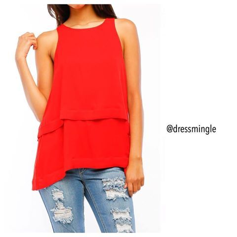 RED HOT!! 💥🔥 Shop new arrivals today until 6pm. #dressmingle #redhot #red #ootd