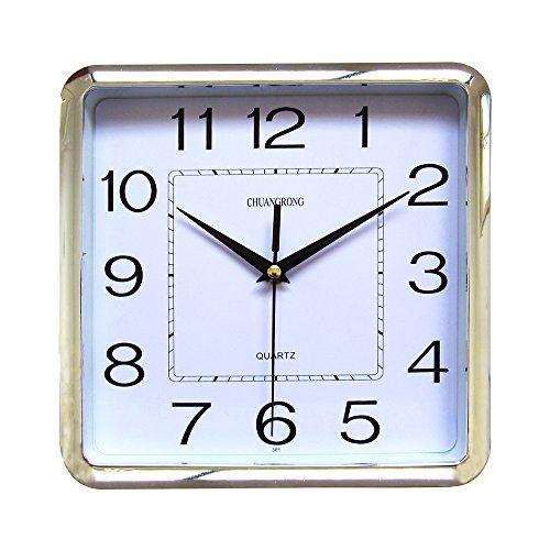 kieragrace 12 White Modern Wall Clock Red Medium