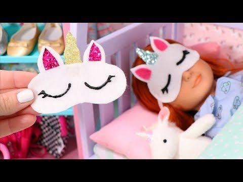 DIY Doll Unicorn Sleep Mask • American Girl Ideas | American Girl Ideas #dollaccessories
