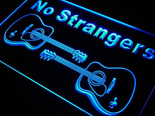 Open Instruments Guitars LED Neon Light Sign
