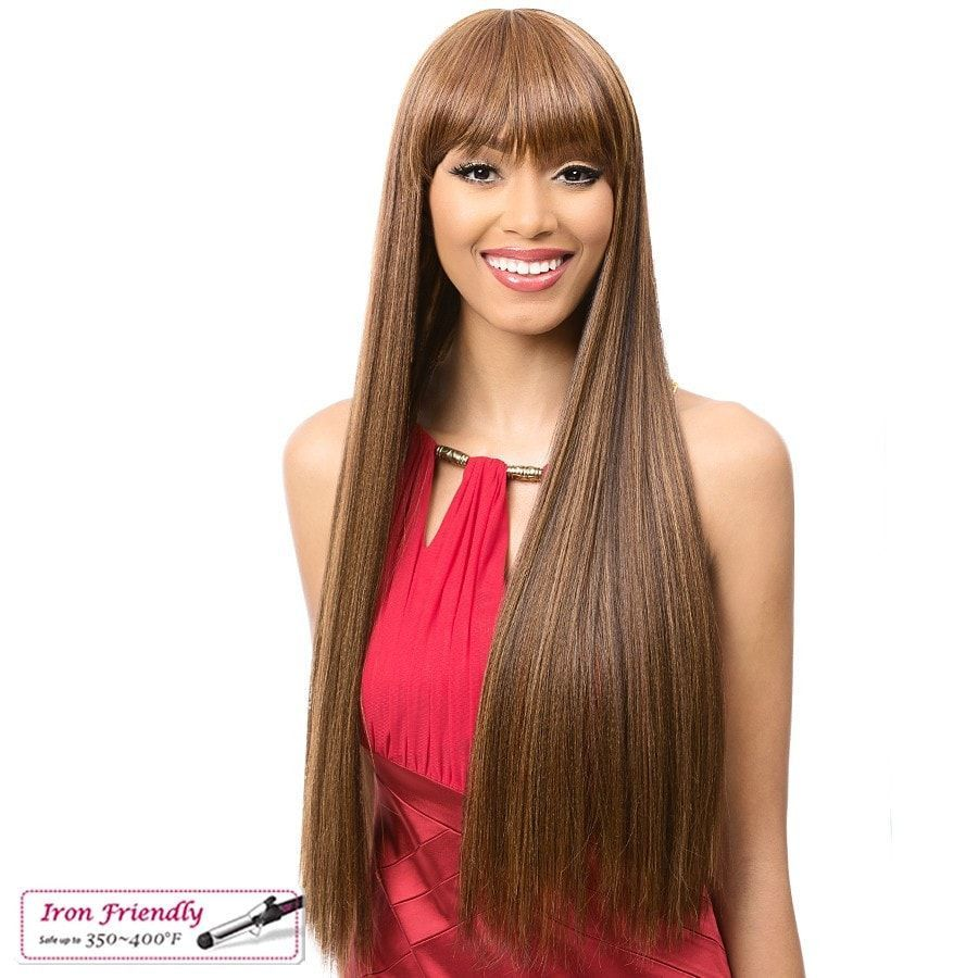 Premium quality synthetic wig Fullcap wig Its a Wig! Curling iron friendly 350~400°F Style color shown: 3TT2730