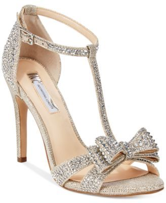 eed062fb5197 INC International Concepts Women s Reesie Rhinestone Bow Evening Sandals