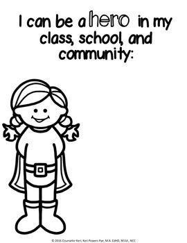 Superhero Kindness Classroom Guidance Lesson for
