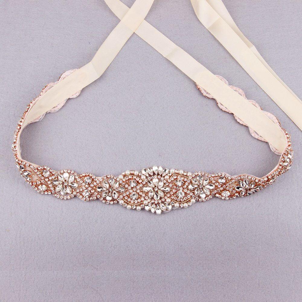 Gold belt for wedding dress  Bridal Sash Belt Rose Gold Wedding Belt Bridesmaid Belt Wedding Sash