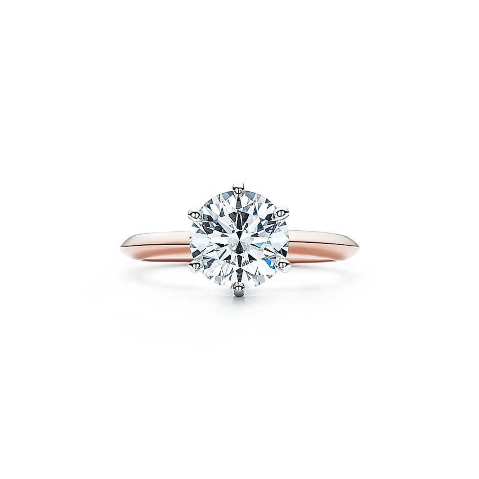 The Tiffany Setting Engagement Ring In 18k Rose Gold Le Sigh