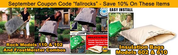 Coupon Code For Fake Rocks And Irrigation Insulation This Only Went Out To Folks On The Newsletter Bu Fake Rock Landscaping With Rocks Front Yard Landscaping