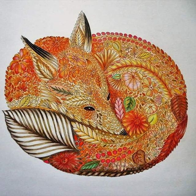 Zentangle Fox Davlin Publishing Adultcoloring